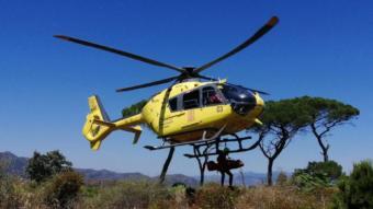 Mor un ciclista en una pista forestal a Sant Joan de Vilatorta