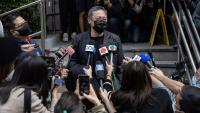 Benny Tai Yiu-ting, activista i professor de Hong Kong, abans d'entrar ahir a comissaria