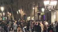Una de les imatge d'aglomeracions al Born penjades per un usuari a Twitter