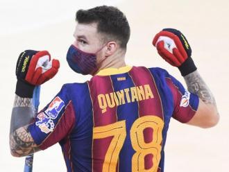 Hélder Nunes, a la imatge, va dur el nom de Quintana a la samarreta