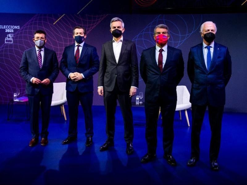 Antoni Guil, Toni Freixa, Víctor Font, Joan Laporta i Carles Tusquets