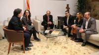 Els cinc síndics electorals de l'1-O, reunits amb el president Torra, el novembre del 2018