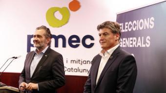 Els dos candidats Pere Barrios i Antonio Cañete després de conèixer els resultats