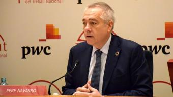 El president del Consorci de la Zona Franca de Barcelona, Pere Navarro