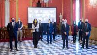 Foto de família del relleu a la presidència del Consell de Cambres, el passat 13 de gener
