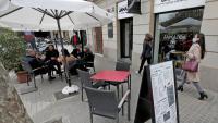 Les terrasses de tot el país, com aquesta d'ahir a Barcelona, podran obrir de 7.30 h a 17 h a partir de dilluns