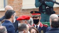 Sánchez es va acostar a parlar amb Trapero al final de l'acte de destrucció d'armes d'ETA a Valdemoro