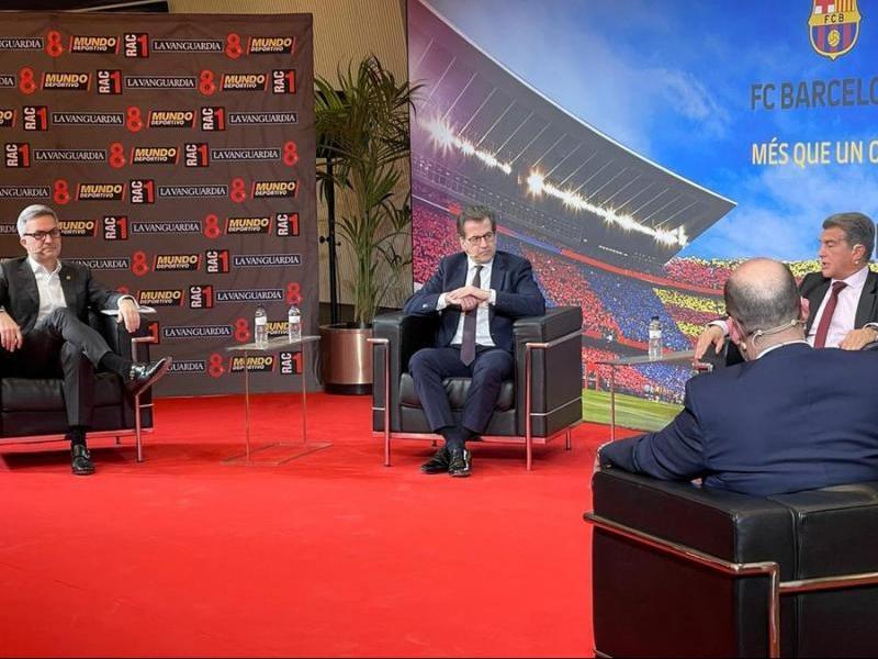 Font, Freixa i Laporta, en el debat sobre la presidència del Barça