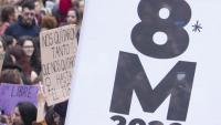 Detall de la manifestació de l'any 2020 a Barcelona