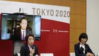 Seiko Hashimoto, nomenada aquest febrer presidenta de Tòquio 2020 després de la polèmica sobre el paper de  les dones desfermada per l'ex-primer ministre Yoshiro Mori, atén els mitjans en una roda de premsa aquesta setmana a la capital  japonesa
