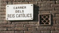 La placa del carrer de Vallvidrera que ara serà per a la pedagoga Elisa Moragas