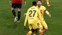 Ilaix Moriba i Leo Messi