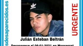Julián Esteban, desaparegut a Montserrat