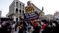 Manifestació feminista a Milà