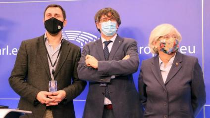 Toni Comín, Carles Puigdemont i Clara Ponsatí