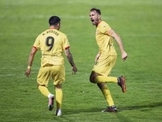 Stuani celebra un dels gols contra el Mirandés