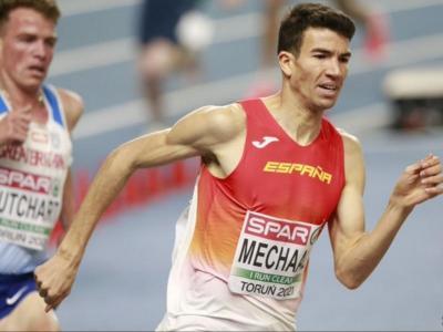 Mechaal, durant la semifinal dels 3.000 m.