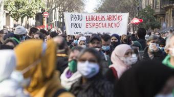 Imatge d'arxiu d'una manifestació a Barcelona contra l'especulació