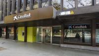 La Direcció Territorial de Bankia a Barcelona, al carrer Londres, amb el nou rètol de CaixaBank