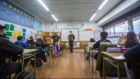 Una classe en una escola de Girona