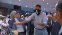 Moment de l'atac feixista al centre Blanquerna durant la Diada del 2013