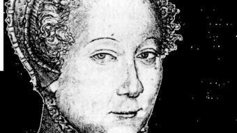 La poeta lionesa Louise Labé, en un gravat d'època