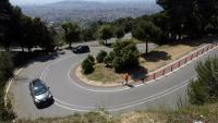 La carretera de l'Arrabassada, en una imatge d'arxiu