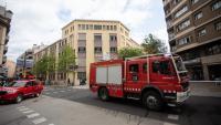 Un camió de bombers marxant de la Salle