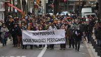 La manifestació va recórrer el centre de Perpinyà