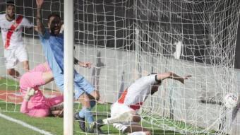 L'acció del gol de l'empat del Rayo