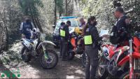 Un dels controls muntats pels Agents Rurals per controlar els punts amb major afluència de motos