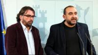 El secretari general d'UGT, Camil Ros, i el secretari general de CCOO, Javier Pacheco