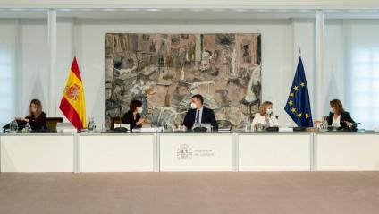 Sánchez i les quatre vicepresidentes del govern espanyol