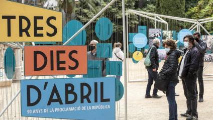 L'exposició dels 90 anys de  la proclamació de la República Catalana, inaugurada ahir al jardí del Palau Robert