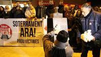 Una de les moltes protestes realitzades per reclamar el soterrament de les vies del tren a Montcada i Reixac