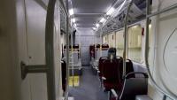 Interior d'un autobús elèctric de la flota de Barcelona, el tipus de vehicle que la CGT voldria a la Diagonal