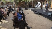 El vicepresident Aragonès parlava en nom del govern en la commemoració dels 90 anys de la República a l'escola Casas de Barcelona