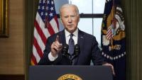 El president dels EUA, Joe Biden, durant la seva al·locució d'ahir sobre l'Afganistan a la Casa Blanca, a Washington
