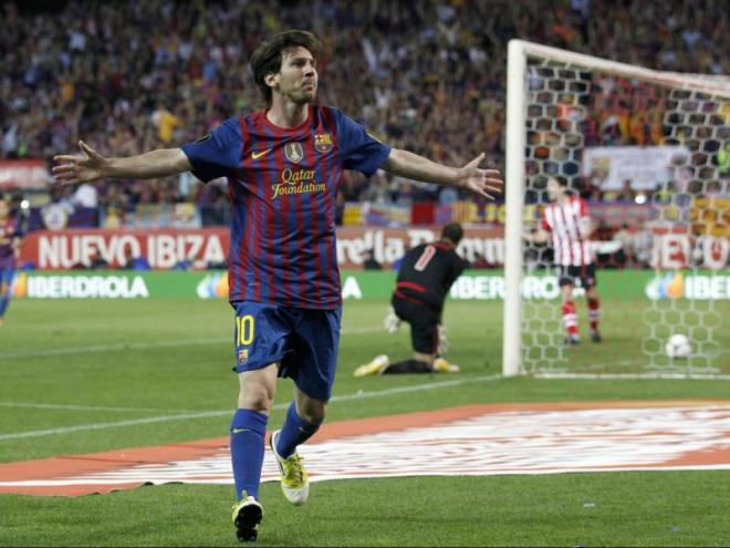 Messi ha marcat en les tres finals que ha disputat contra l'Athletic. En total ha signat quatre dianes