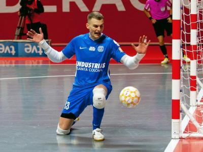 Mario Almagro en un partit d'aquesta temporada