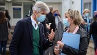 La consellera Vergés amb el secretari de Salut Pública a Girona la setmana passada