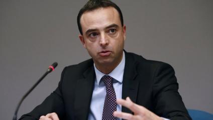El secretari general de Salut Digital, Alfredo González, durant la roda de premsa d'aquest dijous en Moncloa
