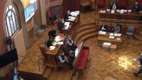 Pla general de la sala on es fa el judici per l'assassinat d'una menor a Vilanova i la Geltrú el juny del 2018