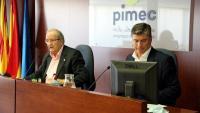 L'antic president de PIMEC, Josep González (esquerra), i l'exsecretari general de la patronal i actual president, Antoni Cañete
