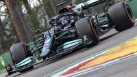 Lewis Hamilton en un moment de la qualificació