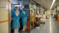 Sanitaris a l'àrea d'atenció a pacients greus de Covid-19 a l'hospital Clínic