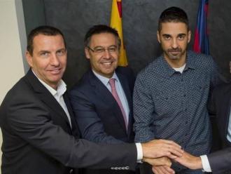 Nacho Rodríguez , Bartomeu i Bladé –que ja són història–, al costat de Navarro