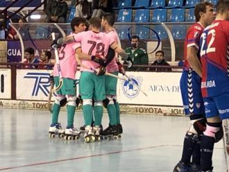 El Barça celebra el 0-5