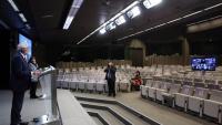 Borrell, alt representat de la UE a l'exterior, durant la reunió per videoconferència amb els ministres d'Afers Estrangers