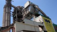 Imatge d'una de les instal·lacions de la planta de Lafarge a Montcada i Reixac